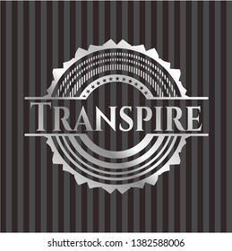 Transpire silvery badge. Vector Illustration. Mosaic.