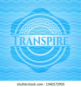 Transpire water wave emblem.