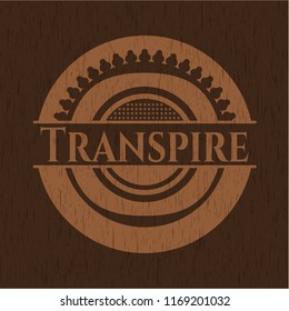 Transpire wood signboards