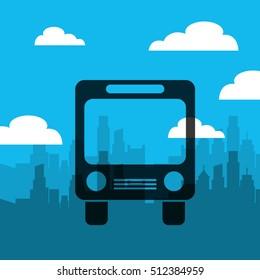 transport bus vehicle icon vector illustration design