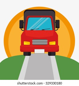 Transport, delivery and shipping design, vector graphic