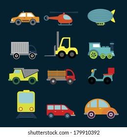 transport design over blue background vector illustration