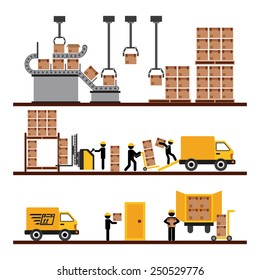 transport of goods design, vector illustration eps10 graphic