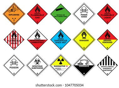 Transport Hazard Pictograms, Warning sign of Globally Harmonized System (GHS) vector ESP10