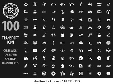 Transport icon set for web sites and user interface