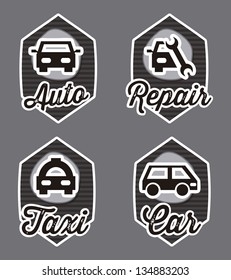 transport icons  over gray background. vector illustration