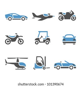 Transport Icons - A set of four