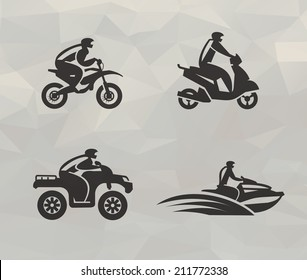 Transport icons. Vector format