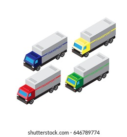 transport isometric icon, vector icon