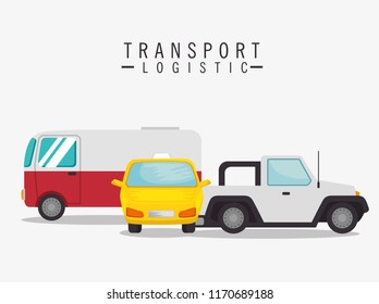 transport logistic set vehicles - Shutterstock ID 1170689188