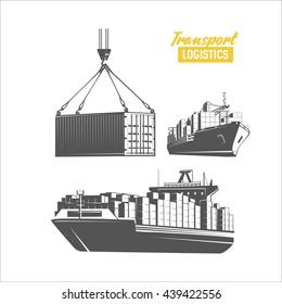 Transport logistics design template. Vector image.