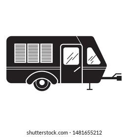Transport motorhome icon. Simple illustration of transport motorhome vector icon for web design isolated on white background