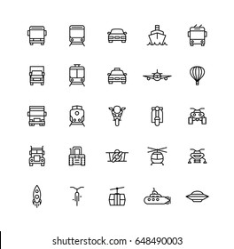 Transport Outline Icons