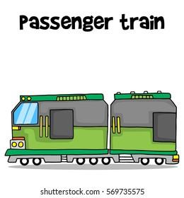 Transport of passenger train vector art collection