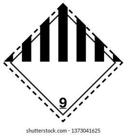 Transport pictograms Class 9, Miscellaneous dangerous substances and articles