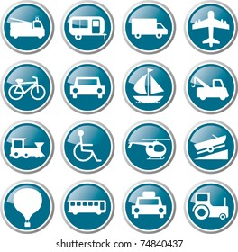 Transport related icon set illustration vector