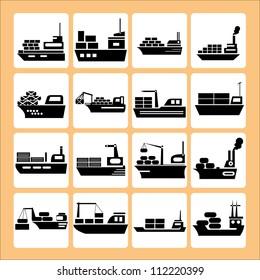transport, ship, vessel set