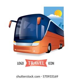 Transport travel bus company logo