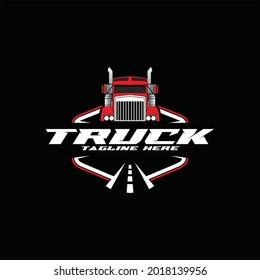Transport trucking logistics logo vector