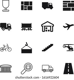 transport vector icon set such as: steel, railway, way, information, trucking, technology, grey, traffic, pictogram, asphalt, vacation, market, weight, rail, railroad, staircase, stairway, healthy