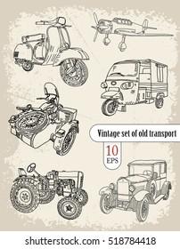 transport. vintage set