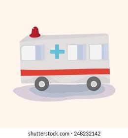 transportation ambulance theme elements vector,eps