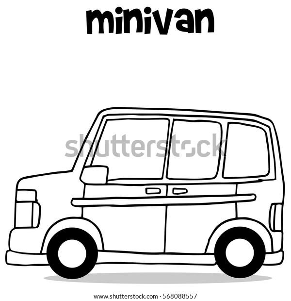 Transportation collection of mini van vector art