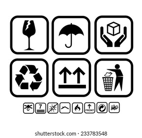 Transportation, delivery icon set vector