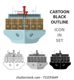 Transportation of goods by sea. Transportation and delivery single icon in cartoon style isometric vector symbol stock illustration web.