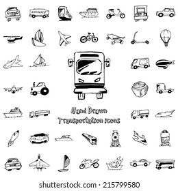 Transportation hand drawn icon