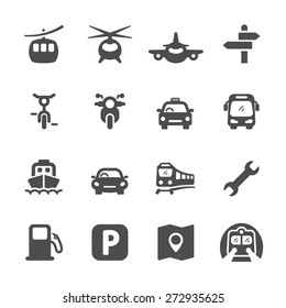 transportation icon set 2, vector eps 10.