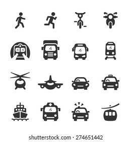 transportation icon set 3, vector eps10.