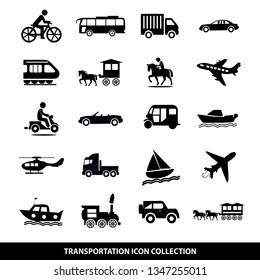Transportation Icon Set, modern design illustration vector