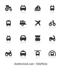 Transportation icons.