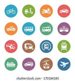 Transportation Icons - Dot Series