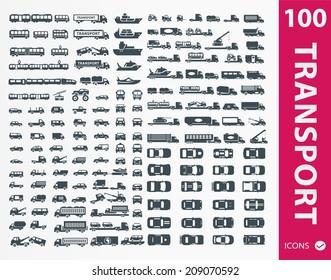 Transportation icons ( set of 100 icon )