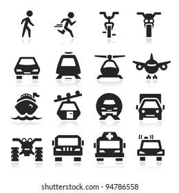 Transportation Icons set Eegant series