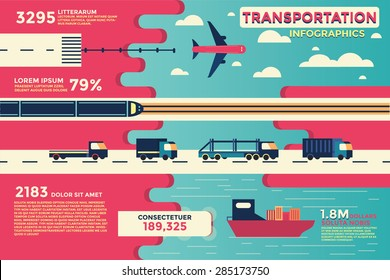 Transportation Infographics,vector,illustration.