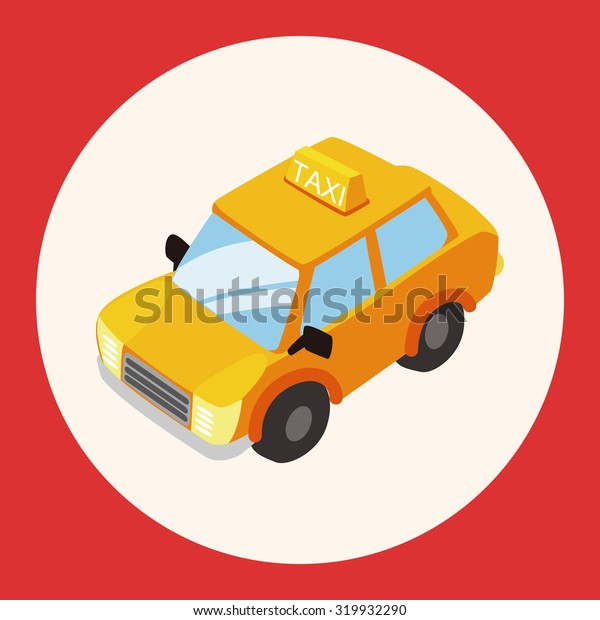 transportation taxi theme elements