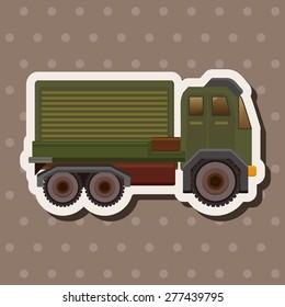 transportation truck theme elements