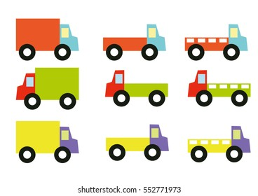 Transportation Trucks set vector