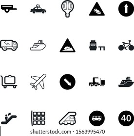 transportation vector icon set such as: protect, no, blueprint, courier, machine, technology, mobile, industrial, color, crane, 40, information, fast, van, race, draw, loader, abstract, high, self