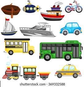 Transportation Vector Set