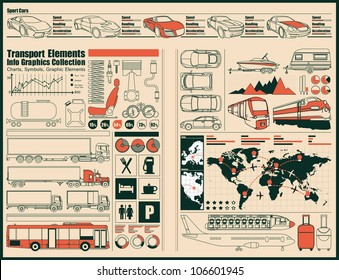 transportation,car Information Graphics.vector set