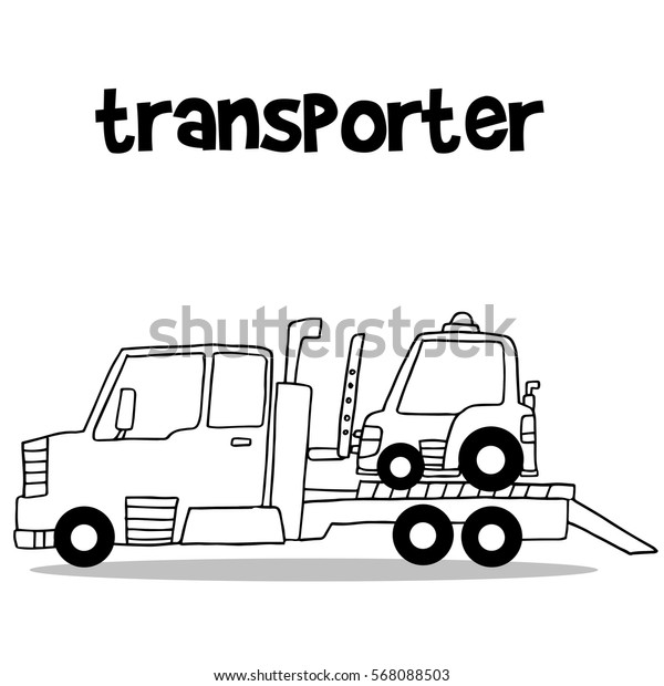 Transporter truck with hand draw collection stock