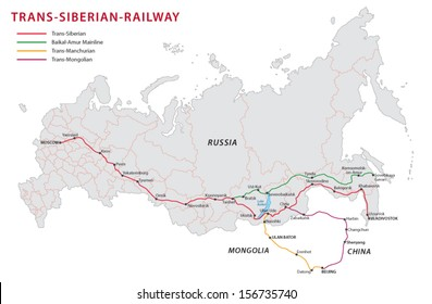 Trans-siberian-railway map