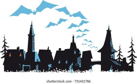 Transylvania landscape fairytale silhouettes