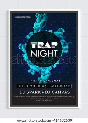 trap night party template dance party stock vector royalty free