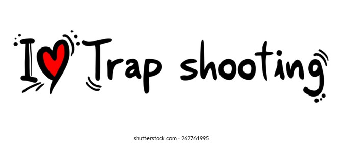 Trap shooting symbol