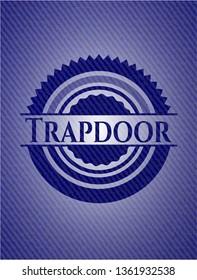 Trapdoor emblem with denim texture